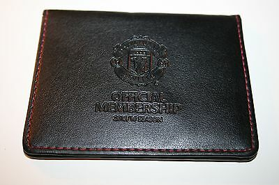 Official Manchester United Football Club Real Leather Wallet Membership Card