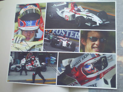 Jenson Button F1 Genuine Signed 10X8 Photograph
