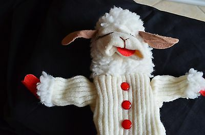 1993 Lamb Chop Plush White 17 in. Stuffed Toy Puppet by Shari Lewis