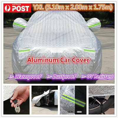 YXL Premium Double thick waterproof car cover rain resistant UV dust protection