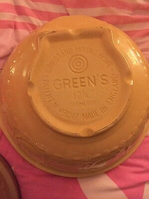 Vintage T.G Green Mixing Bowl Stoneware Gripstand Large Size 12.25'' Traditional
