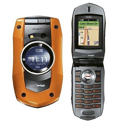 NEW Casio C711 Verizon Orange G'zOne Boulder Basic Cell Phone Rugged No Contract
