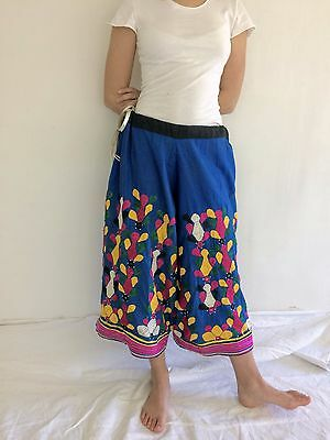 Vintage Rabari Banjara Long Hand Embroidered Mirror Work Palazzo Pants