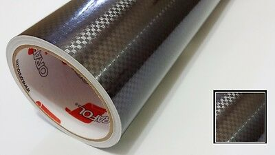 Black Carbon Fiber Vinyl 24'' by 10yd Metallic Graphics Decal Sticker Film Roll