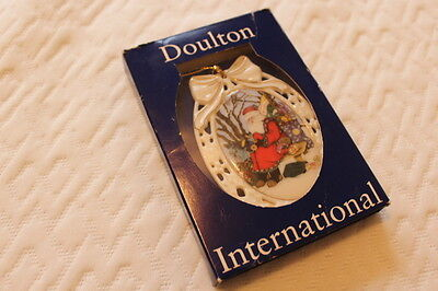 1994 Royal Doulton International Woodland Santa Porcelain Christmas Ornament