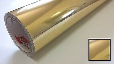 "1 Roll 24"" X 10yd Gloss Gold Chrome Oracal 351 Vinyl Sign Making Craft & Cutting"