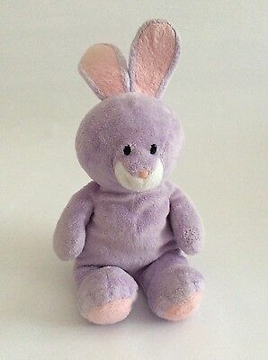 "TY BEANIE BABY Pluffies purple SPRINGY BUNNY RABBIT 10"" Easter plush baby toy"