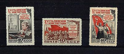 Russia 1951, Michel 1627 – 1628 + 1630 , MNH* , Not complete set, (n064)