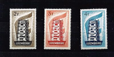 Luxembourg 1956 , Europa ,  MNH** Michel 555 – 557 V.F. , (n048)