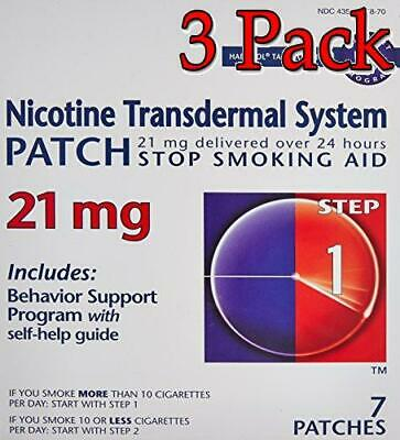 Nicotine Transdermal System Patches, Step 1, 21mg, 7ct, 3 Pack 848985001540A1469