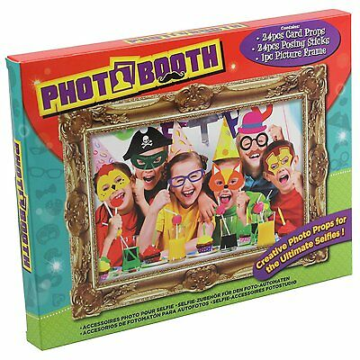 Photo Booth 24pcs Children's Selfie Posing Props & Picture Frame Party Accessory