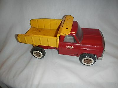 Tonka Toy Trucks >> Vintage Tonka Toys Pressed Steel Toy Dump Truck Red And