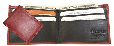 Genuine Leather Kids Small Thin Bifold Cute Boys Mini Wallet Gift Idea