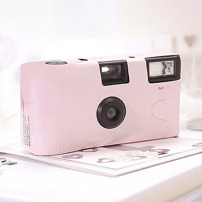 10 Solid Pink Pastel Disposable Wedding Table Camera Cameras Lot Q17280