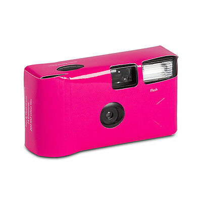 10 Solid Fuchsia Hot Pink Disposable Wedding Table Camera Cameras Lot Q17286