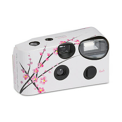 10 White Cherry Blossom Disposable Wedding Table Camera Cameras Lot Q15936