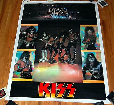 KISS 1977 JUMBO On Cubes Collage Love Gun Poster Aucoin Gene Simmons Ace Frehley