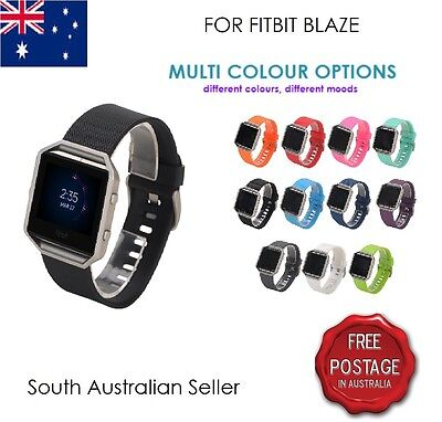 Replacement Silicone Gel Band Bracelet Strap For FITBIT BLAZE SA & AU SELLER