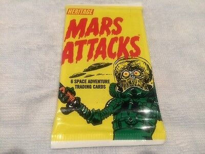 """L@@k Topps 2012 Heritage """"mars Attacks"""" Trading Cards Factory Sealed Packet"""