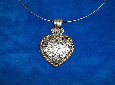 Necklace Western Cowgirl Choker Chunky Pendant Valentine rope Heart