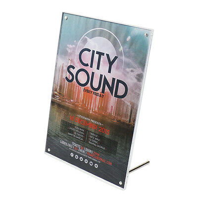 A4 Acrylic Clear Sign Holder for Store Signs, Menu Displaying, Advertising