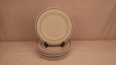 "Sterling China 9"" green stripe plates lot of 6"