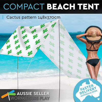 Portable Beach Tent Pop Up Canopy UV-Resistant Sun Shade Camping Outdoor Picnic
