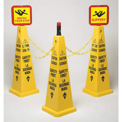 TOUGH GUY Cone Kit,Safety First,Eng/Sp,PP, 6VKR8