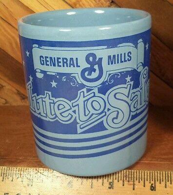 General Mills Blue Coffee Mug - Salute to Safety