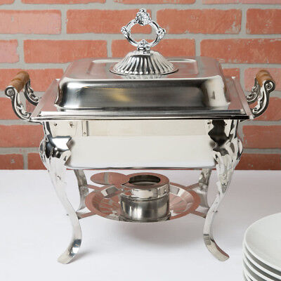 5 PACK Catering Classic STAINLESS STEEL Chafer Chafing Dish Set 4 QT Buffet Half