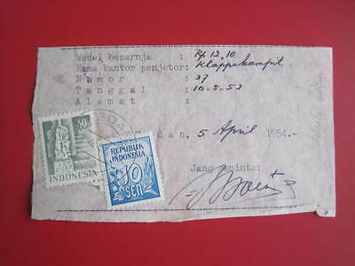 Indonesia  : Request For Poswesel Validity Extension (1954) Medan.