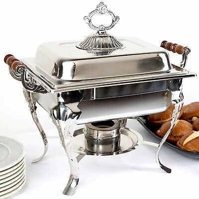 Choice Catering Classic STAINLESS STEEL Chafer Chafing Dish Set 4 QT Buffet Half