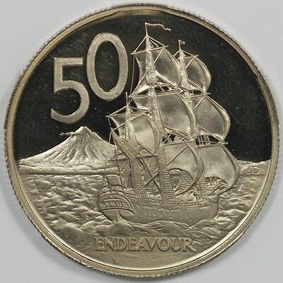 1981 New Zealand Impaired Proof 50 Cent Coin