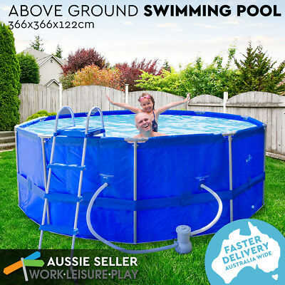 Airtime Steel Frame Above Ground Swimming Pool Round Filter PERTH PICK UP ONLY