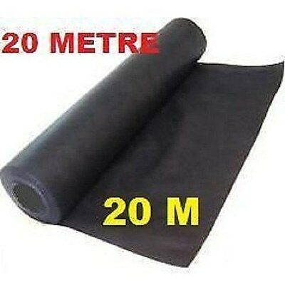 20 Metres Porous Weed Control Landscape Garden Fabric Breathable Membrane 20 M