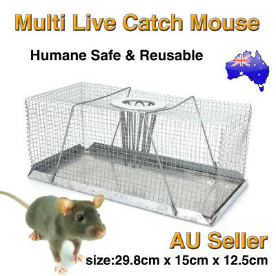 Large Multi Catch Live Mouse Mice Trap Galvanised Mesh Humane Indoor Outdoor