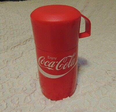 2008 Coca Cola 8 oz Aladdin Thermos - Red and White