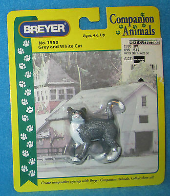 Breyer Gray and White Companion Animal Plastic Cat in package