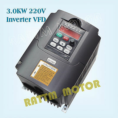 【EU Stock】 3KW 220V Inverter VFD 4HP Variable Frequency Drive 13A for CNC Router