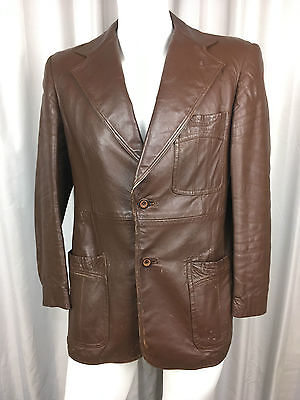 Vintage Brown Leather Jacket Kershaws Don Lorenzo of Spain Size 42 England