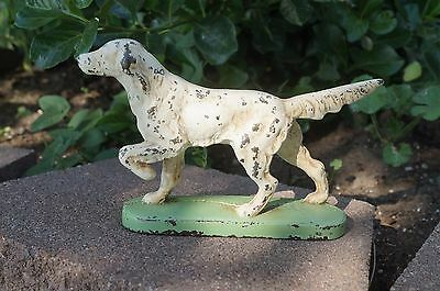 VTG Cast Iron HUBLEY Bookend ENGLISH SETTER Dog Paperweight
