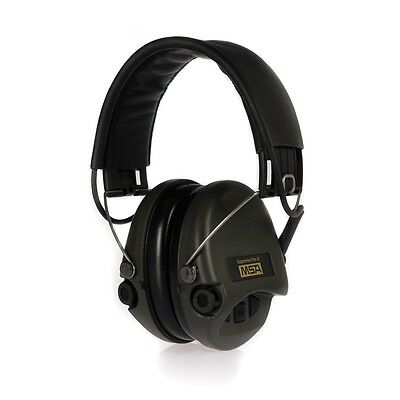 MSA Sordin Supreme Pro X Hearing protection,Foam cushion,AUX input,black leather