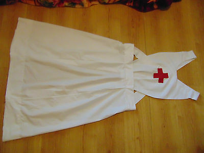 WW1 WW2 NURSES APRON VINTAGE NURSES FULL BIB APRON COTTON REPRODUCTION 1st 2ndWW