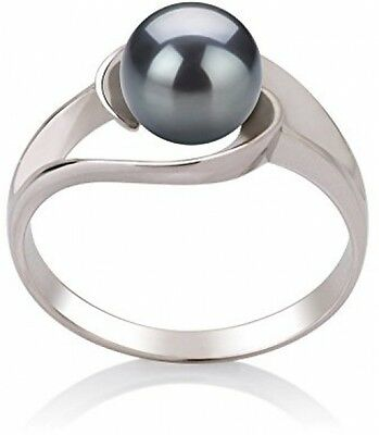 PearlsOnly - Clare Black 6-7mm AAA Quality Freshwater 925 Sterling Silver Pearl