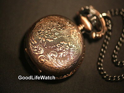 Vintage Style Victoria Flowers Necklace Lady Watch Free Gift Box WNS0021