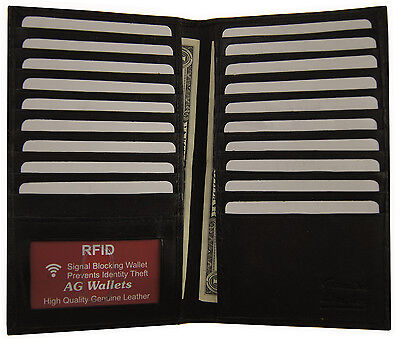 Long Genuine Leather RFID Scan Proof Credit Card Unisex Organizer Wallet New