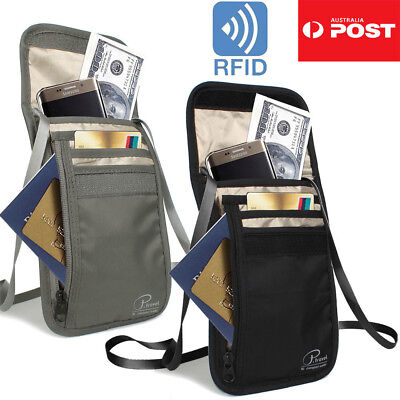 Large RFID Blocking Anti Scan Travel Passport Credit Card Wallet Holder Pouch