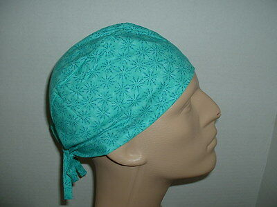 Turquoise Teal Dr Tie back OR Surgical Scrub Hat CNOR MD Vet