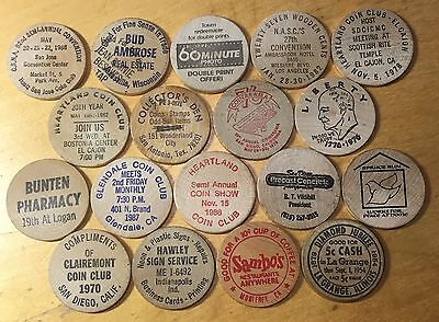Lot Of 18 Wooden Nickels (Lot 84)