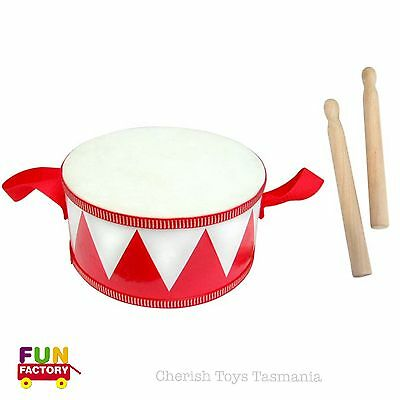 Kids Marching Drum Wooden Toy Percussion Rythm Instrument Gift